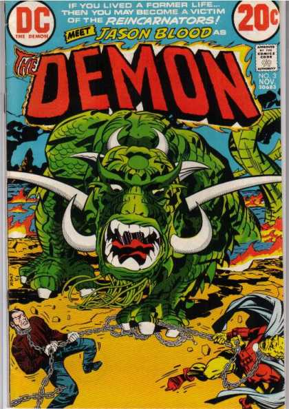 Demon 3 - Dc - Jason Blood - Reincarnators - 20c - Green Monster - Denis Rodier, Jack Kirby
