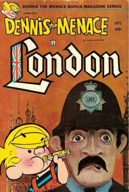 Dennis the Menace Bonus Magazine 88 - London - 1971 - Fawcett - Hank Keycham - Helmet