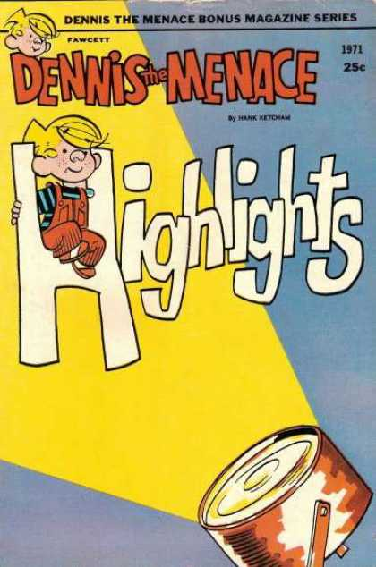 Dennis the Menace Bonus Magazine 90 - Hank Ketcham - Projector - Little Oby - Fawcett - Highlights