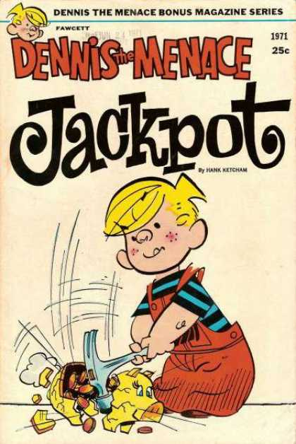 Dennis the Menace Bonus Magazine 94 - Fawcett - Jackpot - 1971 - Hank Ketcham - Hammer
