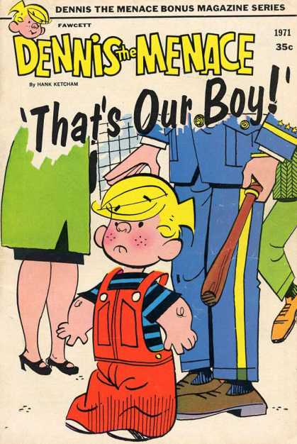Dennis the Menace Bonus Magazine 95 - Thats Our Boy - 1971 - Hank Ketcham - Overalls - Policeman