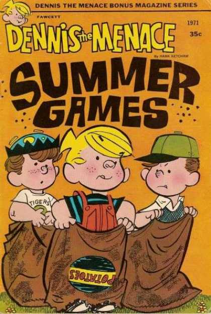 Dennis the Menace Bonus Magazine 96 - Potato Sack - Race - Summer Games - Hats - Outdoors