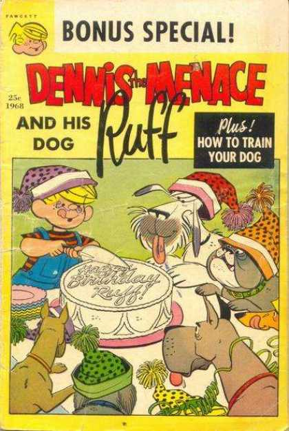 Dennis the Menace Special 54 - Bonus Special - Dog Ruff - How To Train Your Dog - Cake - Boy
