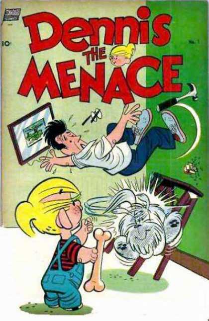 Dennis the Menace 1 - Dennis The Menace - Falling - Dog - Cartoon - Comic