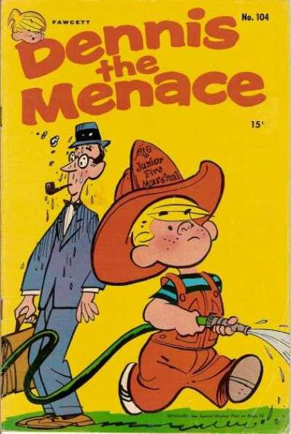 Dennis the Menace 104 - Fire Marshall - Pipe - Water Hose - Blue Suit - Junior