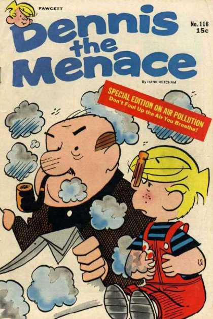 Dennis the Menace 116 - Special Edition - Air Pollution - Mr Wilson - Pipe - Clothes Pin