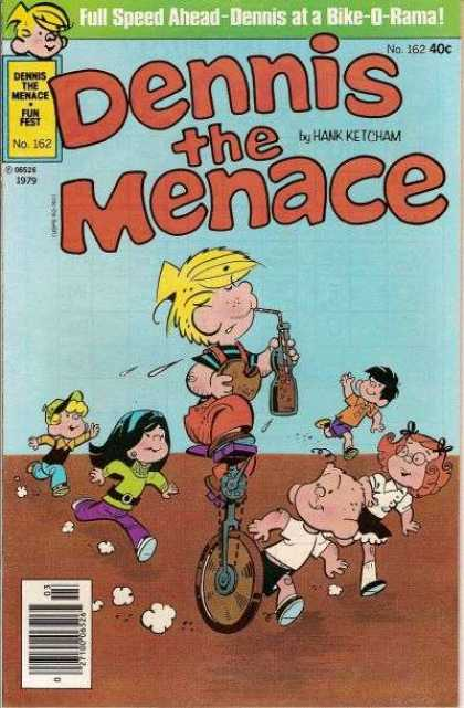 Dennis the Menace 162 - Blonde - Boy - Straw - Beverage - Hamburger