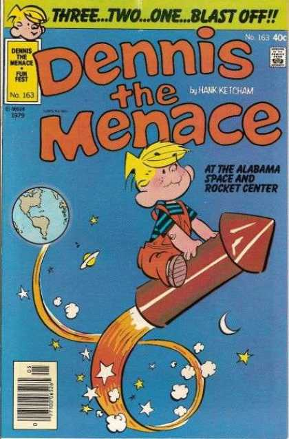 Dennis the Menace 163 - Threetwoone Blast Off - Rocket - Small Boy - Moon - Earth