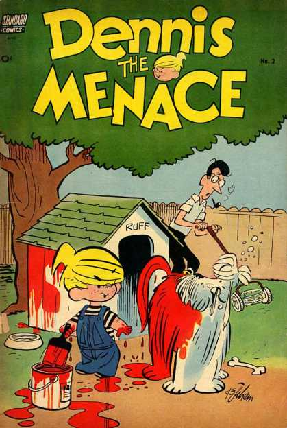 Dennis the Menace 2 - Red Paint - Doghouse - Ruff - Mowing Lawn - Bone