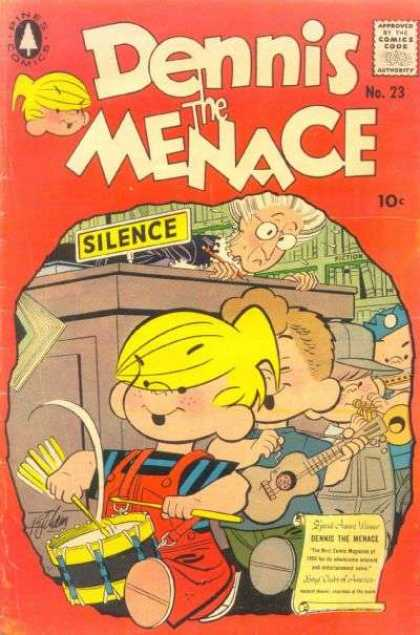 Dennis the Menace 23 - Noise - Drum - Guitar - Library - Silence