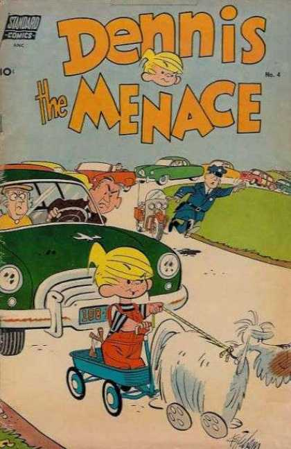 Dennis the Menace 4 - Standard Comics - Policeman - Cars - Traffic Jam - Wagon