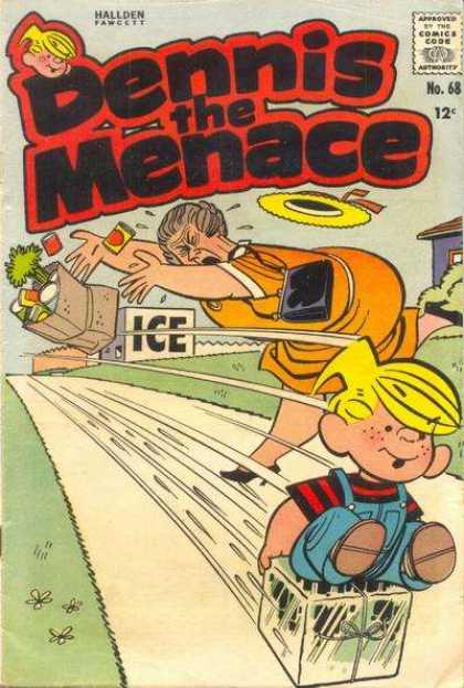 Dennis the Menace 68 - Falling Fat Lady - Grocieries - Ice Place - Dennis Slidding - Yellow Hat