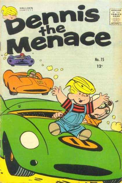 Dennis the Menace 75 - Hallden - No 75 - Green - Race Car - Orange