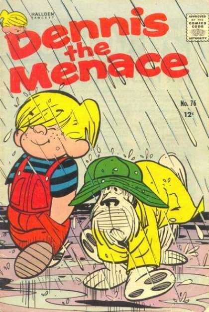 Dennis the Menace 76 - No 76 - Rain - Child - Dog - Boy