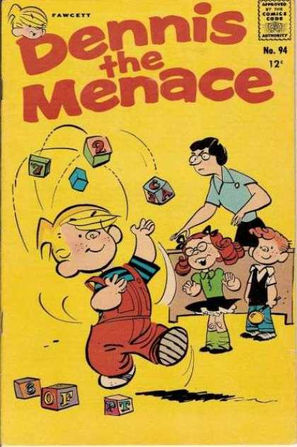 Dennis the Menace 94 - Juggling - Blicks - Angry Teacher - Kids - School