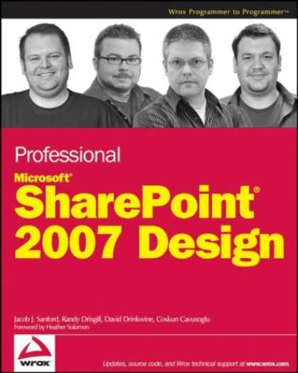 Design Books - Professional SharePoint 2007 Design (Wrox Professional Guides)