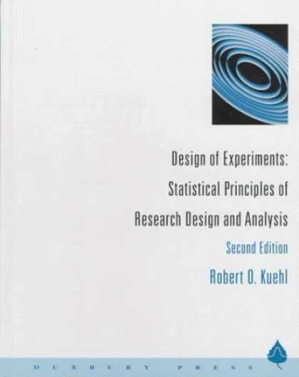 Design Books - Design of Experiments: Statistical Principles of Research Design and Analysis