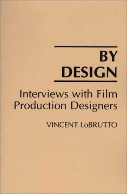 Design Books - By Design: Interviews with Film Production Designers