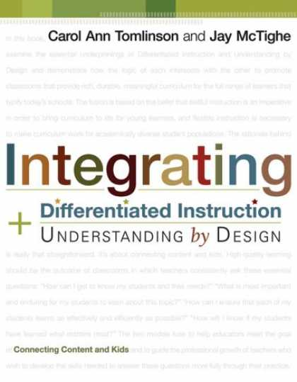 Design Books - Integrating Differentiated Instruction & Understanding by Design (Connecting Con