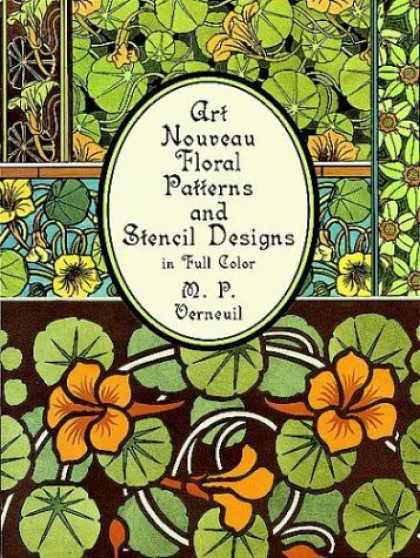 Design Books - Art Nouveau Floral Patterns and Stencil Designs in Full Color (Dover Pictorial A