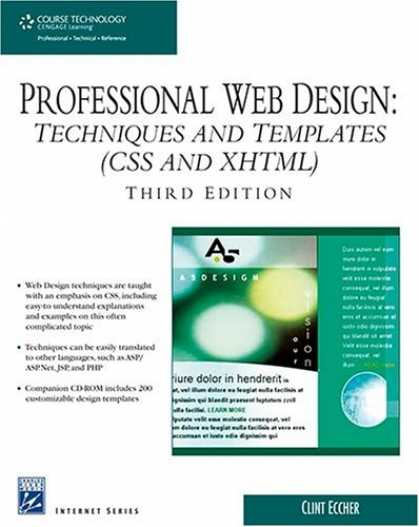 Design Books - Professional Web Design: Techniques and Templates (CSS & XHTML) (Charles River M