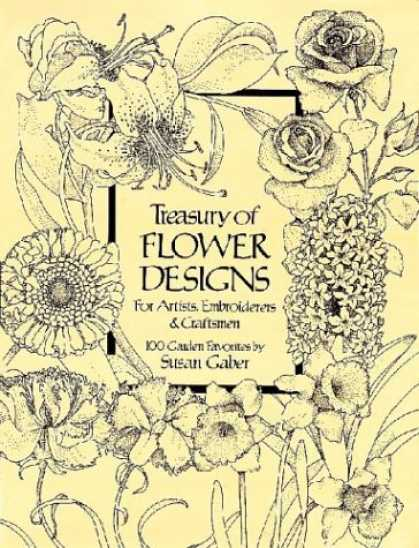 Design Books - Treasury of Flower Designs for Artists, Embroiderers and Craftsmen (Dover Pictor