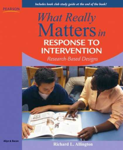 Design Books - What Really Matters in Response to Intervention: Research-based Designs (What Re