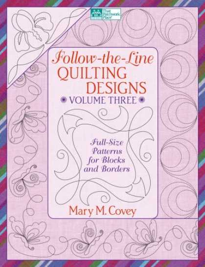 Design Books - Follow-The-Line Quilting Designs: Full-Size Patterns for Blocks and Borders (Tha