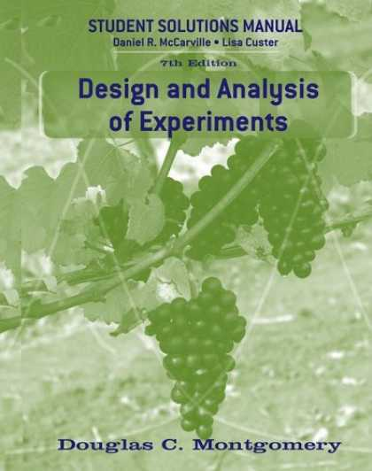 Design Books - Design and Analysis of Experiments, Student Solutions Manual