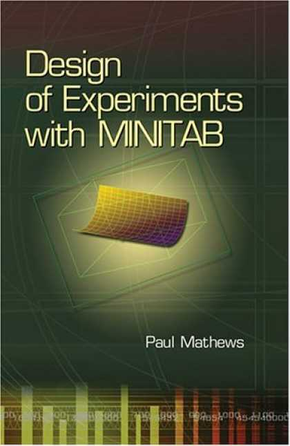 Design Books - Design of Experiments with MINITAB