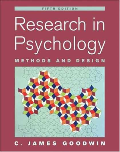 Design Books - Research In Psychology: Methods and Design