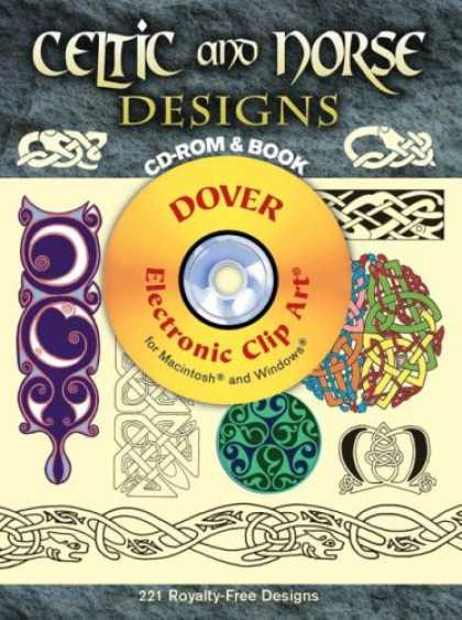 Design Books - Celtic and Norse Designs CD-ROM and Book (Electronic Clip Art)