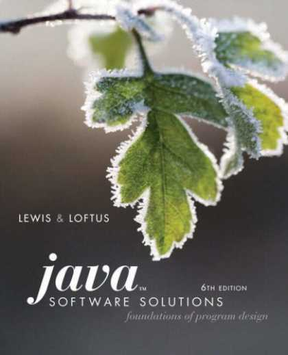 Design Books - Java Software Solutions: Foundations of Program Design (6th Edition)