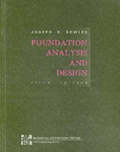 Design Books - Foundation Analysis and Design