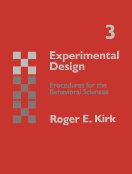 Design Books - Experimental Design: Procedures for Behavioral Sciences (Psychology)