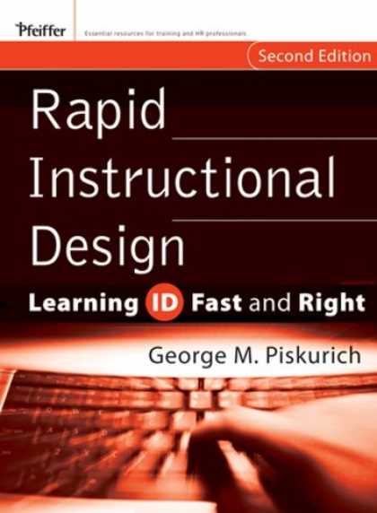Design Books - Rapid Instructional Design: Learning ID Fast and Right (Essential Knowledge Reso