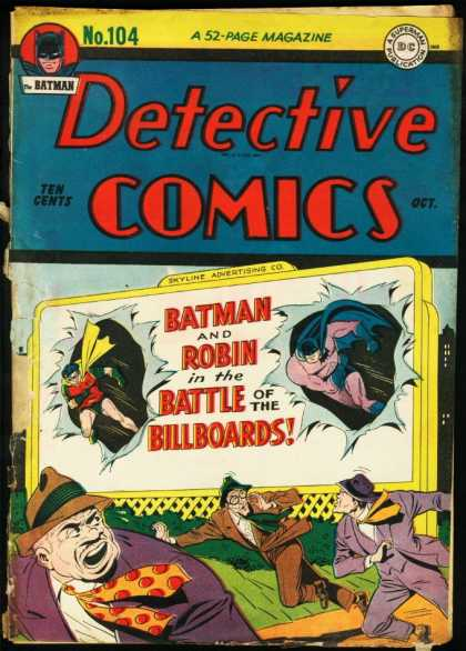 Detective Comics 104 - Billboard - Robin - Men - Running - Battle