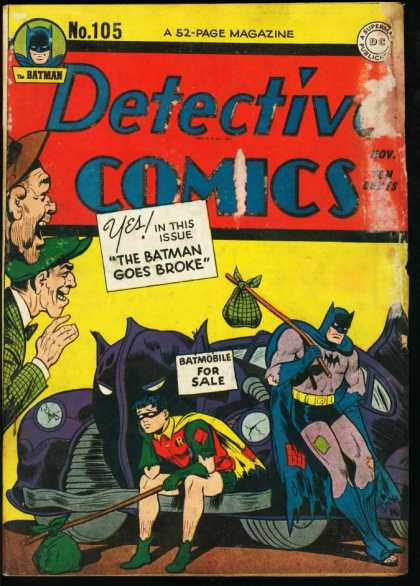 Detective Comics 105 - Batman - Batmobile - Robin - Hat - Bat Mask