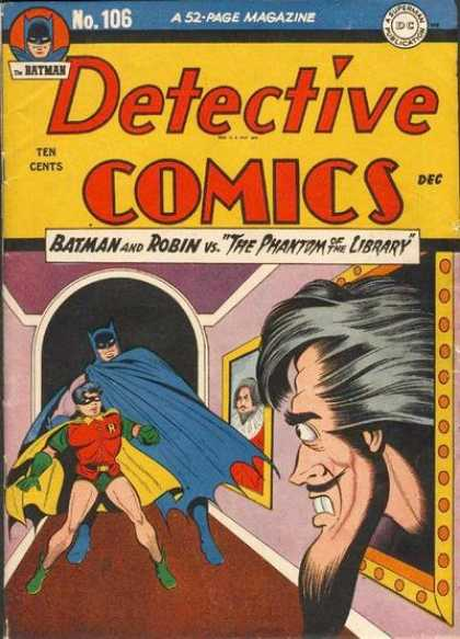 Detective Comics 106 - Batman And Robin - The Phantom Of The Library - 52-page Magazine - Ten Cents - No106