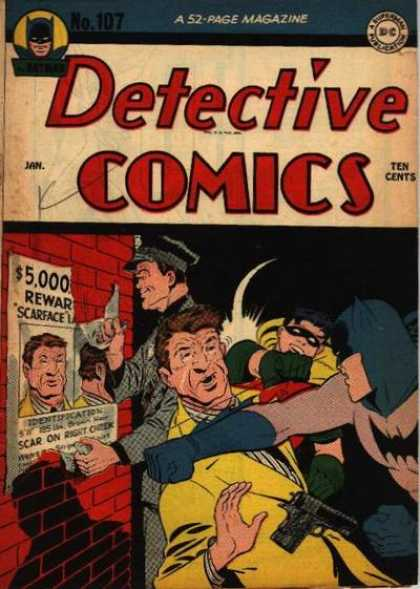 Detective Comics 107 - Batman - Robin - 5000 Reward - Scarface - Punch