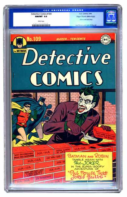 Detective Comics 109 - Batman - Robin - Joker