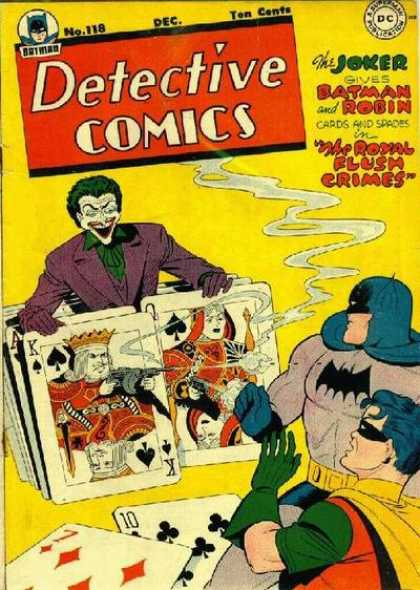 Detective Comics 118 - Joker - Batman - Robin - Gun - Cards
