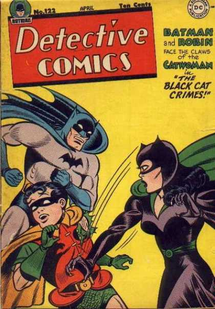 Detective Comics 122 - The Black Cat Crimes - Batman - Robin - Catwoman - Claws - Bob Kane