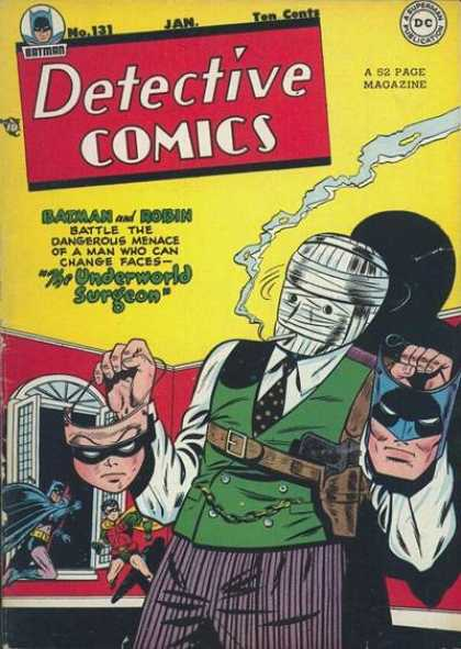 Detective Comics 131 - Batman - Robin - Surgeon - Bandages - Masks - Bob Kane