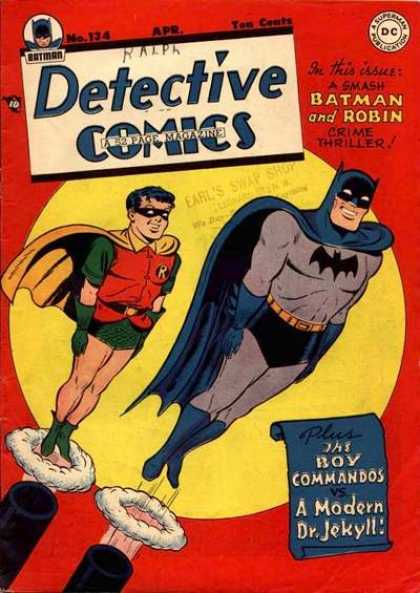 Detective Comics 134 - Batman - Robin - Cannon - Flying - Jim Mooney