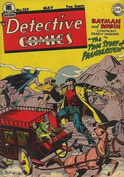 Detective Comics 135 - Frankenstein - Mountains - Moon - Horses - Carriage