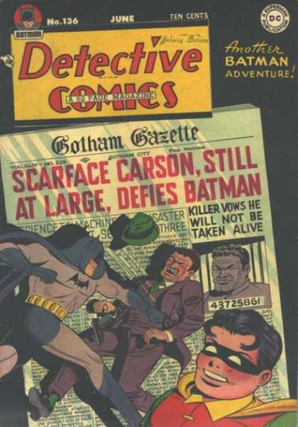 Detective Comics 136 - Newspaper