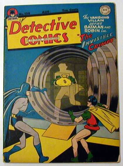 Detective Comics 138 - Batman - Robin - Vault Door - Robber - Money Bag