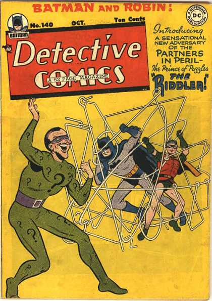 Detective Comics 140 - Batman - Robin - Riddler