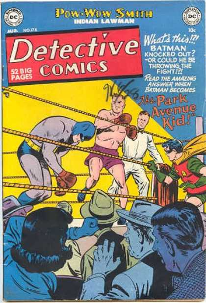 Detective Comics 174 - Boxing - Batman - Ring - Crowd - Dc Comics